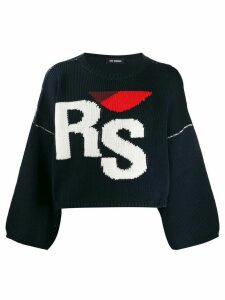 Raf Simons knit monogram jumper - Blue