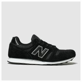 New Balance Black & Silver 373 Trainers
