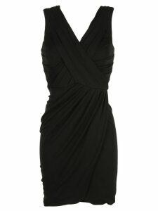 Nicole Miller draped mini dress - Black