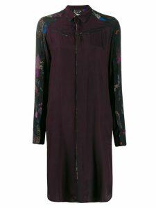 A.F.Vandevorst print mix shirt dress - PURPLE