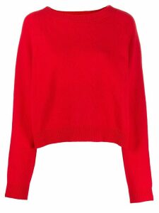 Semicouture regular-fit crew-neck jumper - Red