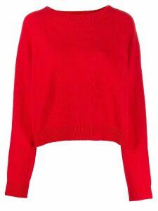 Semicouture regular-fit crew-neck jumper - Red
