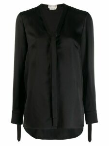 Alexander McQueen pussy-bow blouse - Black