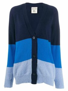 Semicouture oversized panelled cardigan - Blue