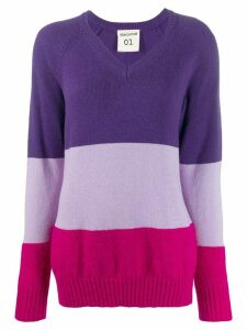 Semicouture oversized panelled jumper - PURPLE