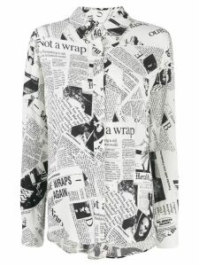 Diane von Furstenberg Lorelei two vintage crepe shirt - White
