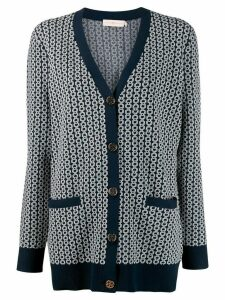 Tory Burch jacquard-knit cardigan - Blue