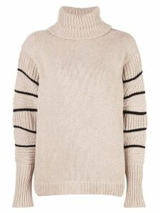 Maison Ullens relaxed-fit turtleneck jumper - NEUTRALS