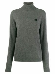 Rochas monogram embroidered jumper - Grey