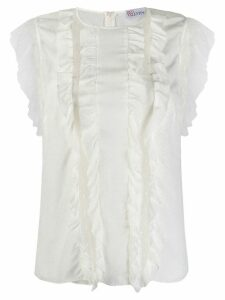 RedValentino ruffle top - White