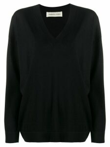 Lamberto Losani v-neck knit sweater - Black
