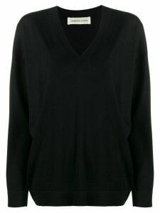 Lamberto Losani v-neck knit sweater - Black