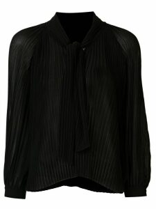 Tomorrowland pleated long-sleeved blouse - Black