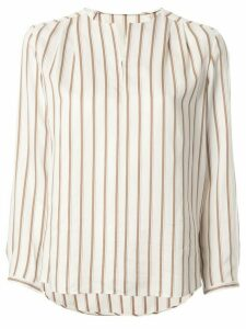 Tomorrowland striped long-sleeved blouse - White