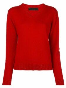 The Elder Statesman cashmere V-neck jumper - Red