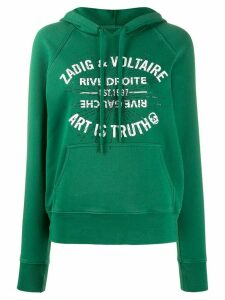 Zadig & Voltaire crystal-embellished hooded sweatshirt - Green