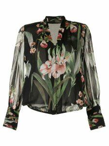 Elie Tahari Laya floral print blouse - Black