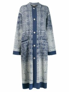 Miaoran speckled knit cardigan coat - Blue