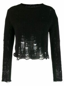 Song For The Mute distressed detail sweater - Black