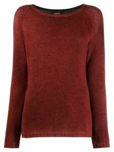 Avant Toi ribbed knit detail sweater - Red