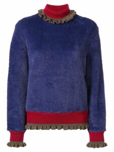 Kolor textured roll neck jumper - PURPLE