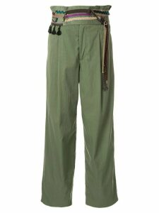 Kolor high waisted trousers - Green