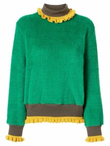 Kolor textured roll neck jumper - Green