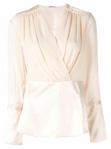 Elie Tahari wrap front blouse - PINK