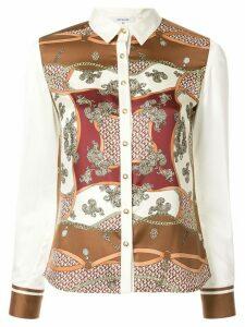 Loveless baroque print blouse - White