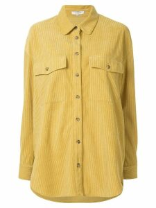 Loveless oversized ribbed shirt - Yellow