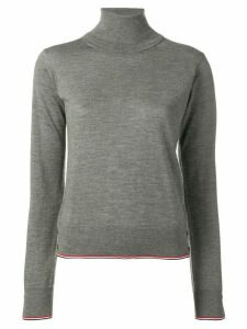 Thom Browne Classic Turtle Neck Pullover W/Rwb Tipping Stripe In