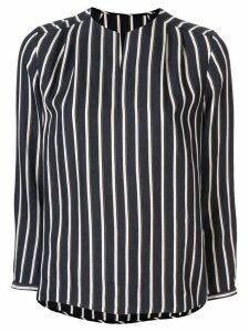 Tomorrowland striped long-sleeved blouse - Black