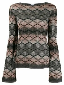 M Missoni patterned jumper - Grey