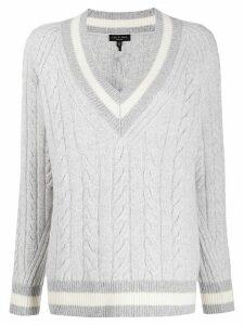Rag & Bone cable knit varsity jumper - Grey