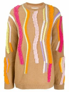 Peter Pilotto textured-stripe knitted sweater - Neutrals
