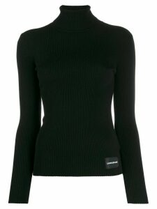 Calvin Klein Jeans ribbed slim-fit jumper - Black