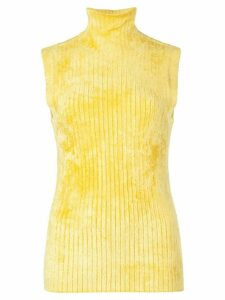 Sies Marjan Saya ribbed sleeveless turtleneck top - Yellow