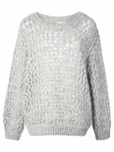 Brunello Cucinelli chunky knit jumper - Grey