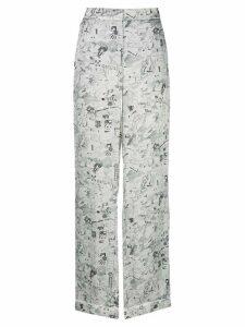 Off-White sketch print straight-leg trousers