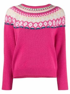 Lamberto Losani patterned jumper - PINK