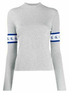 Calvin Klein Jeans logo sleeve sweater - Grey