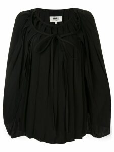 Mm6 Maison Margiela pleated blouse - Black