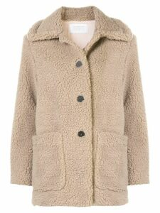 Harris Wharf London oversized single-breasted coat - Brown