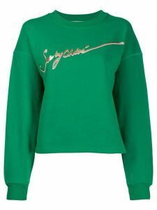 See By Chloé logo print sweatshirt - Green