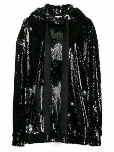 Marques'Almeida oversized sequin-embellished hoodie - Black