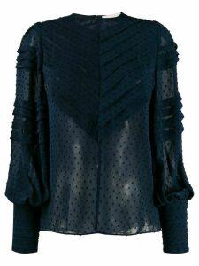 Zimmermann Sabotage Folded Tuck blouse - Blue