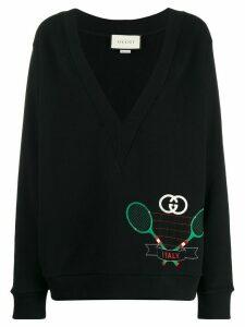 Gucci Tennis motif sweatshirt - Black