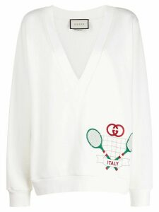 Gucci Tennis motif sweatshirt - White