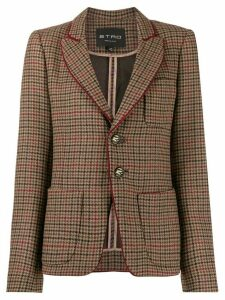 Etro check print blazer - Brown