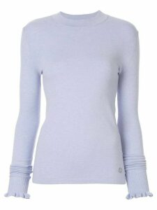 Emilio Pucci ruffled detail knitted jumper - Purple